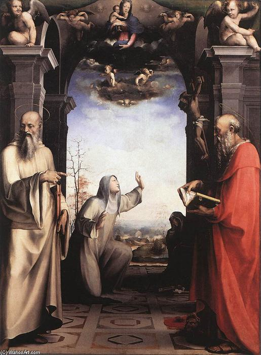 Stigmatization of St Catherine of Siena, 1515 by Domenico Di Pace Beccafumi (1486-1551, Italy) | Museum Art Reproductions | ArtsDot.com