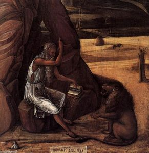 Giovanni Bellini - St Jerome in the Desert (detail)