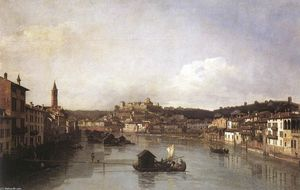 Bernardo Bellotto - View of Verona and the Ri..