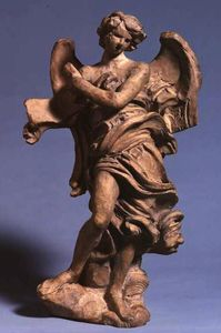Gian Lorenzo Bernini - Standing Angel with Scrol..