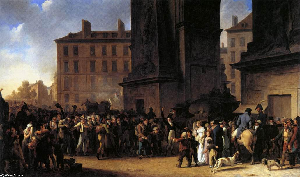 Departure of the Conscripts in 1807, Oil On Canvas by Louis Léopold Boilly (1761-1845, France)