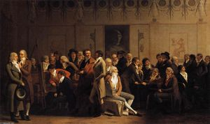 Louis Léopold Boilly - Meeting of Artists in Isabey's..