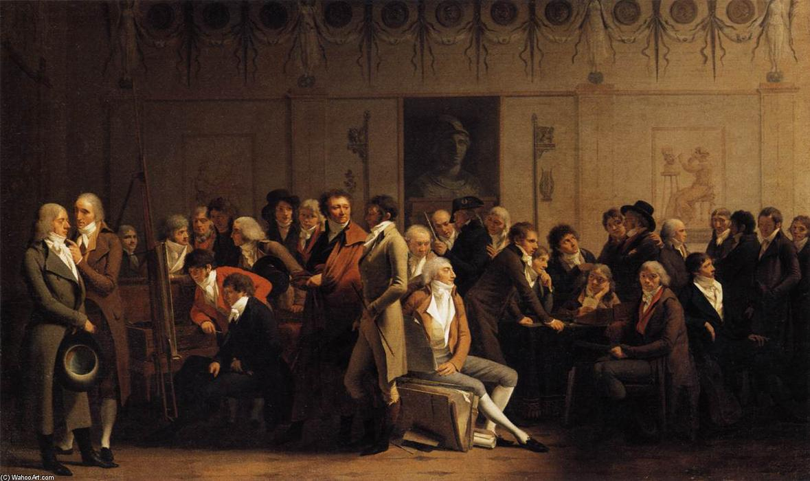 Meeting of Artists in Isabey's Studio, Oil On Canvas by Louis Léopold Boilly (1761-1845, France)