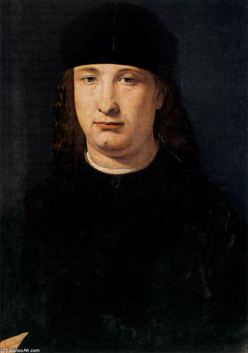 Buy Museum Art Reproductions | Portrait of a Notable, 1500 by Giovanni Antonio Boltraffio (1467-1516, Italy) | ArtsDot.com