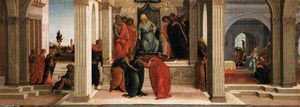 Sandro Botticelli - Three Scenes from the Story of Esther
