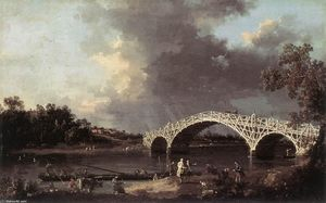 Giovanni Antonio Canal (Canaletto) - Old Walton Bridge