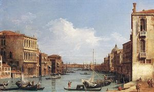 Giovanni Antonio Canal (C.. - The Grand Canal from Camp..