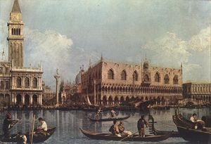 Giovanni Antonio Canal (Canaletto) - View of the Bacino di San Marco (St Mark-s Basin)