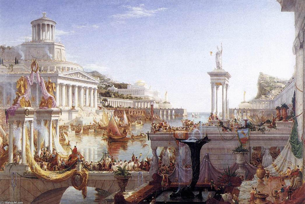 The Consummation of the Empire, Oil On Canvas by Thomas Cole (1801-1848, United Kingdom)