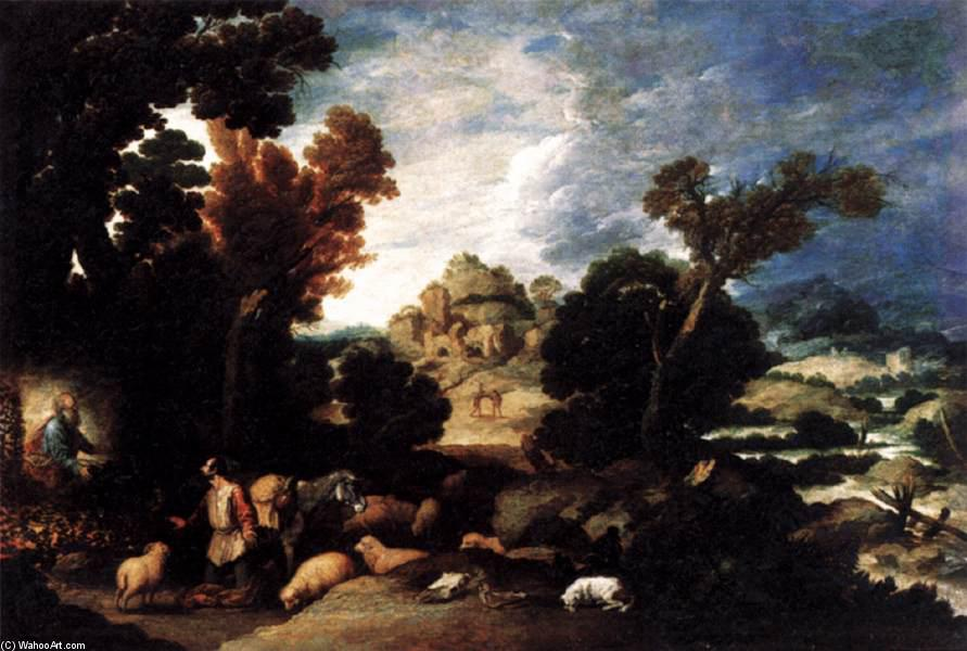 The Burning Bush, Oil On Canvas by Francisco Collantes (1599-1656, Spain)