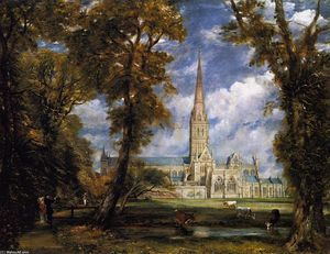 John Constable - Salisbury Cathedral from ..