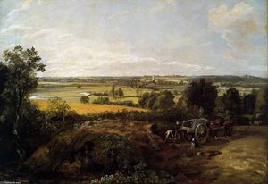 John Constable - The Stour-Valley with the Church of Dedham