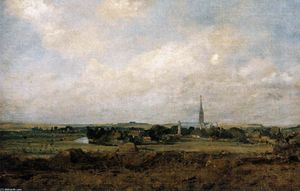 John Constable - View of Salisbury