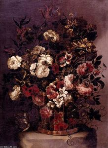 Gabriel De La Corte - Still-Life of Flowers in ..