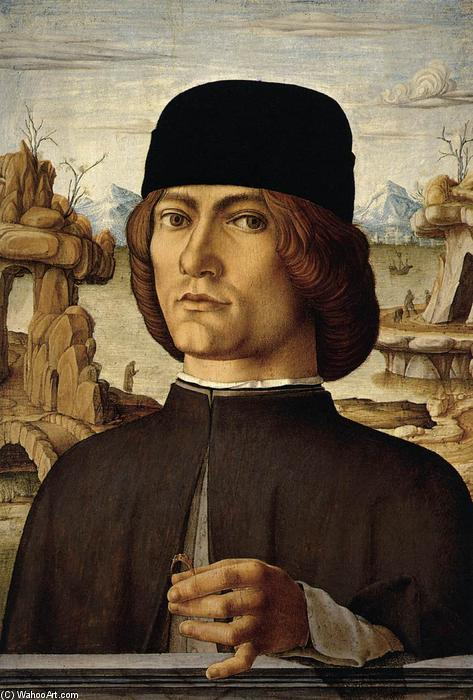 Portrait of a Man, Oil On Panel by Francesco Del Cossa (1436-1477, Italy)