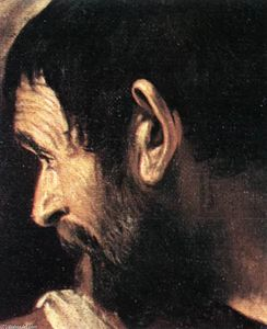 Caravaggio (Michelangelo Merisi) - Supper at Emmaus (detail) (13)
