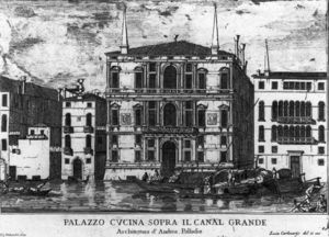 Luca Carlevaris - Palazzo Coccina on the Grand Canal