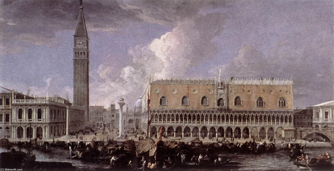 Order Art Reproduction : View of the Wharf from the Bacino di San Marco, 1720 by Luca Carlevaris (1663-1730, Italy) | ArtsDot.com