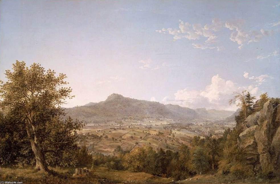 Schatacook Mountain, Housatonic Valley, Connecticut, 1845 by Jasper Francis Cropsey (1823-1900, United States) | Art Reproduction | ArtsDot.com