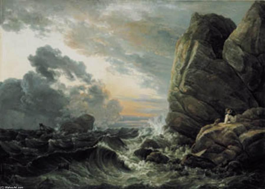 Morning after a Stormy Night, Oil On Canvas by Johan Christian Clausen Dahl (1788-1857, Denmark-Norway)