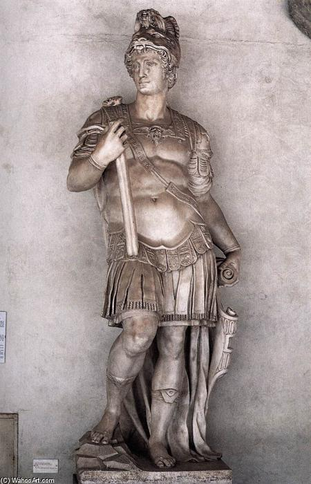 Cosimo as Augustus, Marble by Vincenzo Danti (1530-1576, Italy)