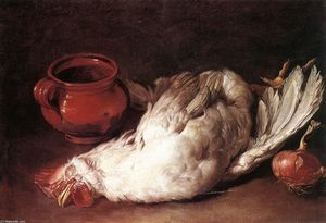 Giacomo Ceruti (Pitocchetto) - Still-Life with Hen, Onion and Pot