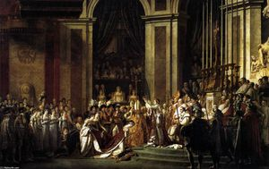Jacques Louis David - Consecration of the Emperor Napoleon I and Coronation of the Empress Josephine