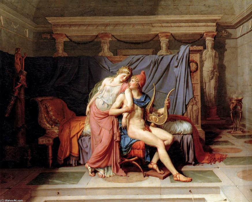 Buy Museum Art Reproductions | The Loves of Paris and Helen, 1788 by Jacques Louis David (1748-1800, France) | ArtsDot.com