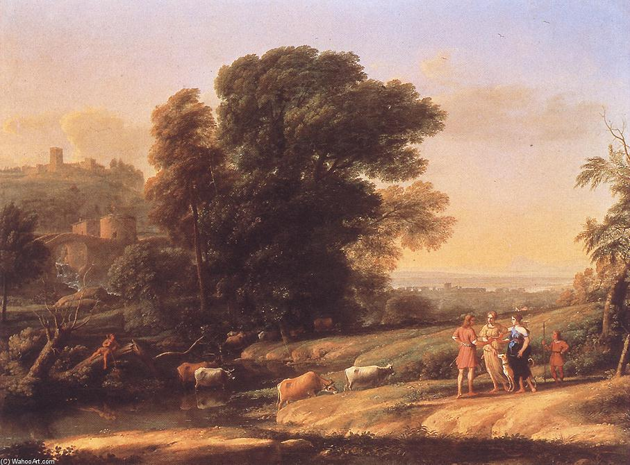 Landscape with Cephalus and Procris Reunited by Diana, Oil On Canvas by Claude Lorrain (Claude Gellée)