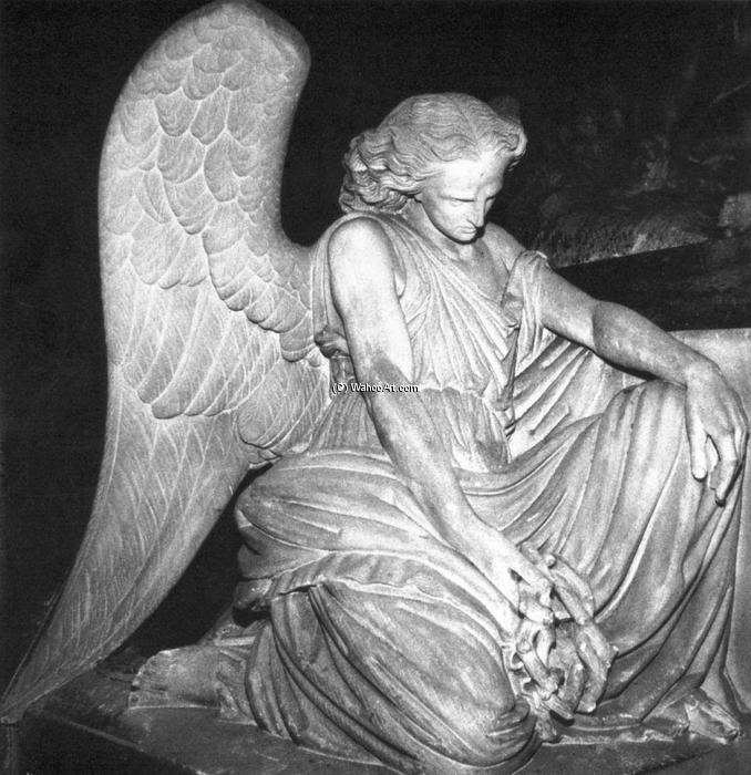 Angel of Grief, Stone by Auguste Clésinger (1814-1883, France)