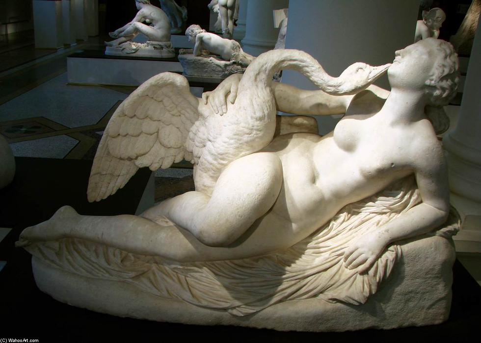 Leda and the Swan, Marble by Auguste Clésinger (1814-1883, France)