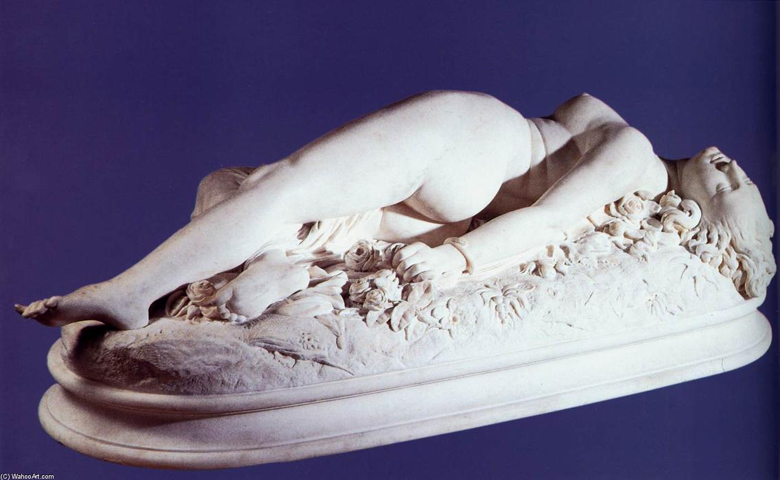 Woman Bitten by a Snake, Marble by Auguste Clésinger (1814-1883, France)