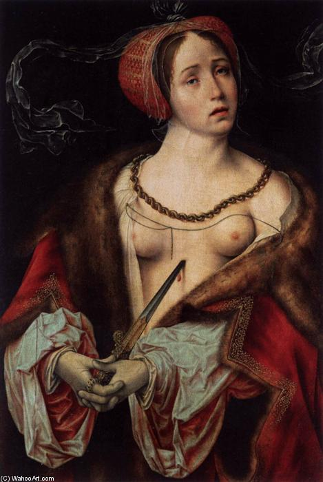 The Suicide of Lucretia, 1520 by Joos Van Cleve (1485-1540, Germany) | Oil Painting | ArtsDot.com