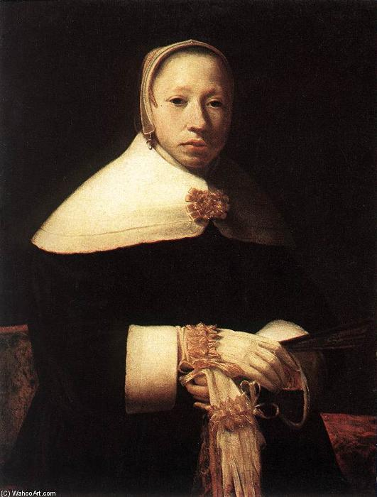 Portrait of a Woman, Oil On Canvas by Gerrit (Gérard) Dou (1613-1675, Netherlands)