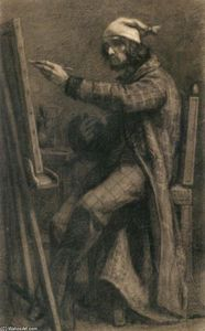 Gustave Courbet - Artist at His Easel
