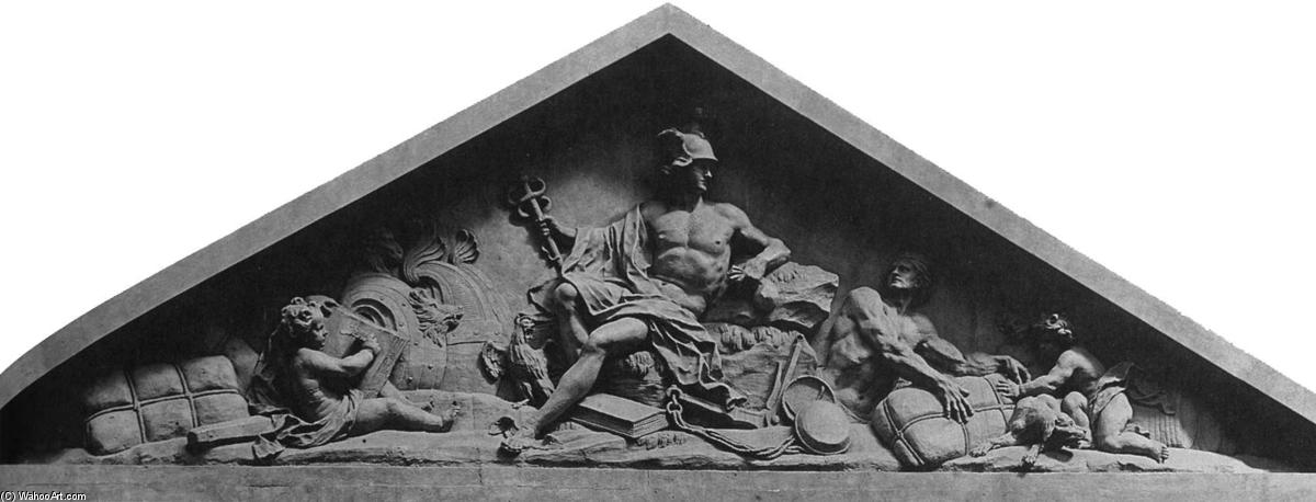 Pediment of the Custom House, Bronze by Nicolas Coustou (1658-1733, France)