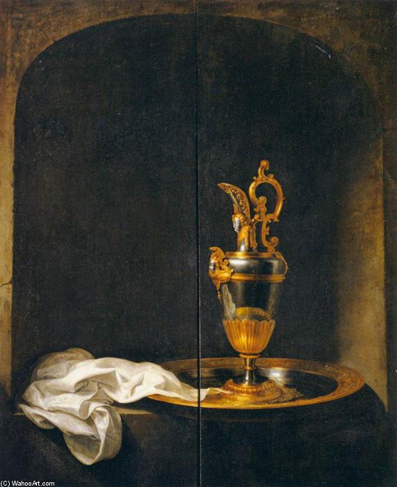 The Silver Ewer, 1663 by Gerrit (Gérard) Dou (1613-1675, Netherlands) | Art Reproduction | ArtsDot.com
