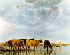 Aelbert Jacobsz Cuyp - Cows in the Water