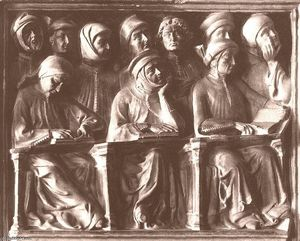 Jacobello Dalle Masegne - Students, detail of the Tomb o..