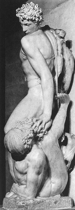 Honour Triumphant over Falsehood (rear view), Marble by Vincenzo Danti (1530-1576, Italy)