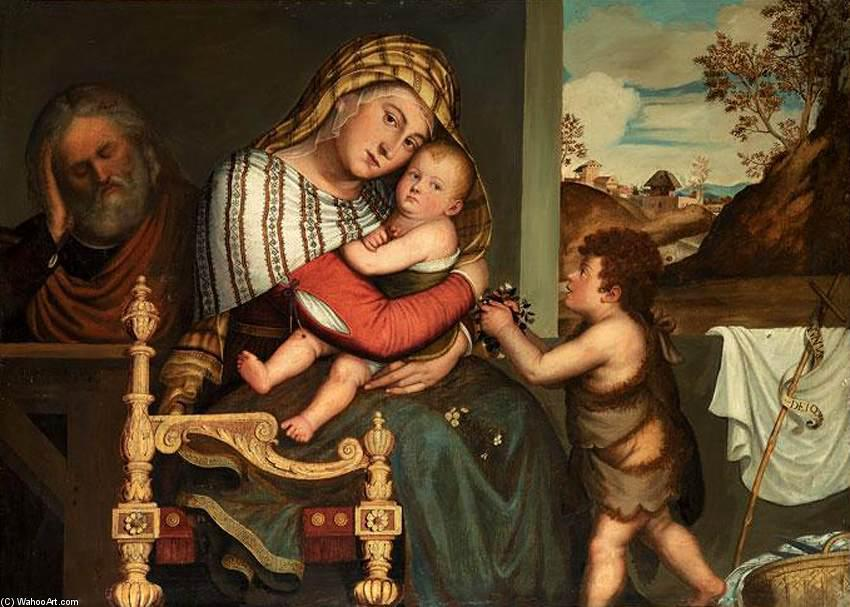 The Holy Family with the Infant St John the Baptist, Oil On Canvas by Niccolò Frangipane