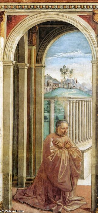 Portrait of the Donor Giovanni Tornabuoni, Frescoes by Domenico Ghirlandaio (1449-1494, Italy)