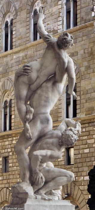 Rape of the Sabines (back view), Marble by Giambologna (1529-1608, France)