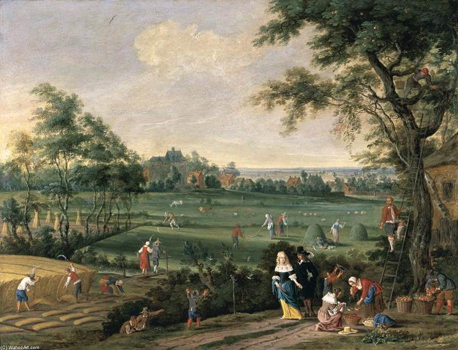 Summer Landscape, Oil On Copper by Pieter Gijsels (1621-1690, Belgium)