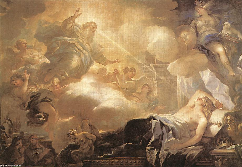 Dream of Solomon, Oil On Canvas by Luca Giordano (1634-1705, Italy)
