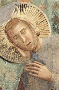 Giotto Di Bondone - Legend of St Francis: 3. Dream of the Palace (detail)