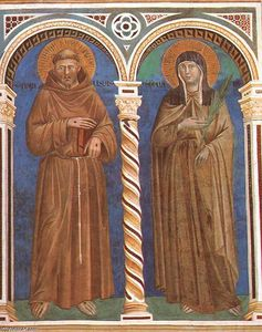 Giotto Di Bondone - Saint Francis and Saint Clare