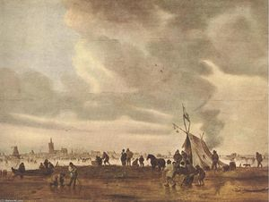 Jan Van Goyen - View of The Hague in Wint..