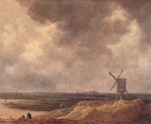 Jan Van Goyen - Windmill by a River
