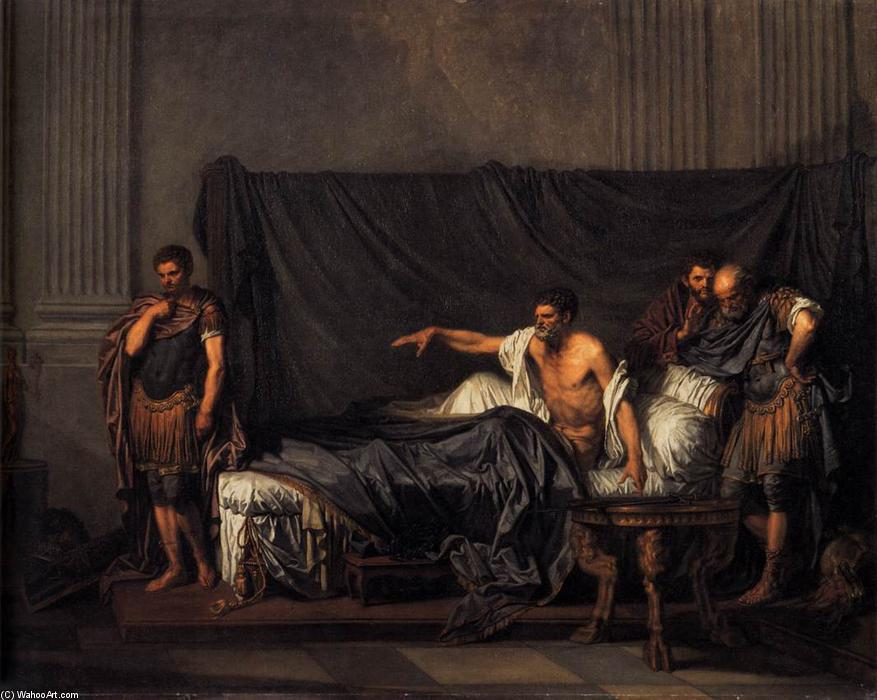 Septimius Severus and Caracalla, 1769 by Jean-Baptiste Greuze (1725-1805, France) | Painting Copy | ArtsDot.com